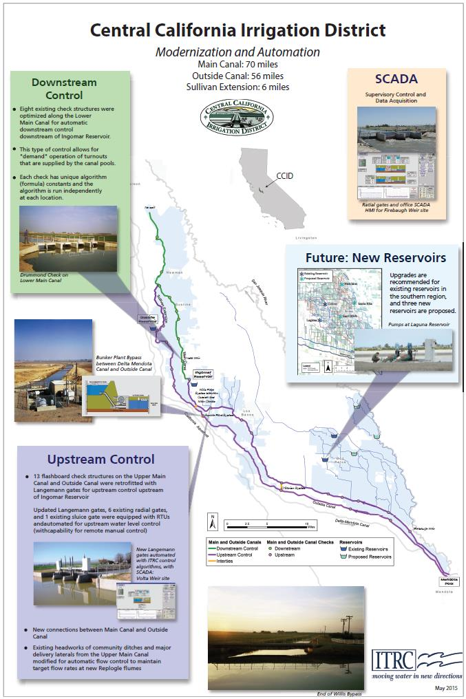Cal Poly - ITRC - Projects - CCID California Irrigation Districts Map on